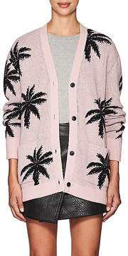 Amiri Women's thedrop@barneys: Palm-Leaf-Pattern Cashmere Cardigan