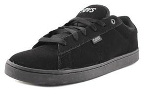 DVS Shoe Company Revival 2 Men Round Toe Leather Black Skate Shoe.