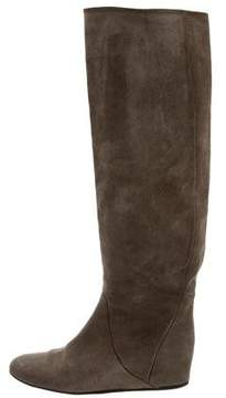 Lanvin Suede Knee-High Boots