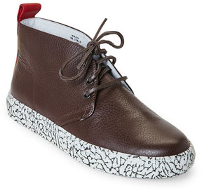 Del Toro Shock Pebbled Leather Chukka Sneakers