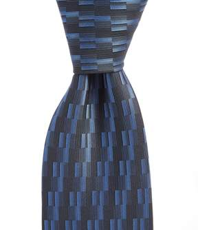 Murano Big & Tall Stair Solid Traditional Silk Tie