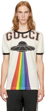 Gucci White Embroidered Logo T-Shirt