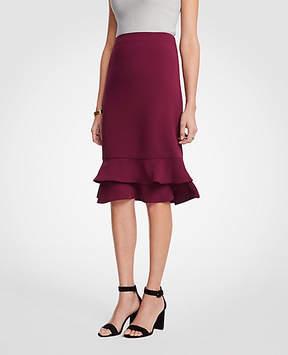Ann Taylor Ruffle Pencil Skirt