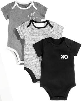 First Impressions 3-Pk. Xo Milk Cotton Bodysuits, Baby Boys & Girls (0-24 months), Created for Macy's