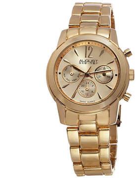August Steiner Womens Gold Tone Strap Watch-As-8087yg