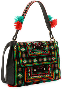Etro B Sotto Braccio Carpet Embroidered Shoulder Bag