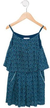 Chloé Girls' Geometric Print Sleeveless Dress