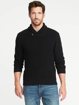 Old Navy Textured Shawl-Collar Sweater for Men