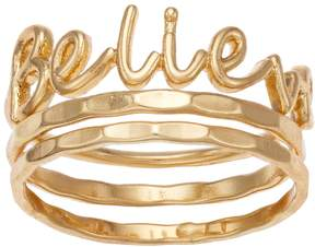 Lauren Conrad Believe Ring Set