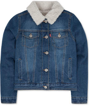 Levi's Faux-Fur Denim Jacket, Toddler Girls (2T-5T)