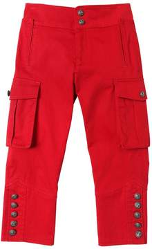 DSQUARED2 Cropped Stretch Cotton Gabardine Pants