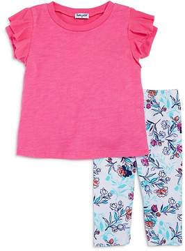 Splendid Girls' Ruffled Top & Floral-Print Leggings Set - Little Kid