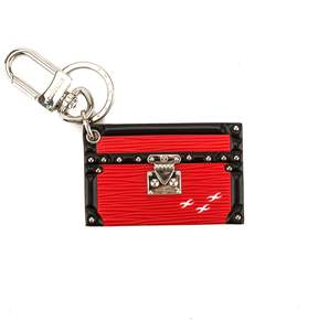 Louis Vuitton Coquelicot Leather Petite Malle Bag Charm and Key Holder (Pre Owned)