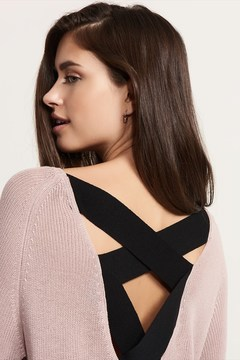 Dynamite Cross Back Tunic Sweater