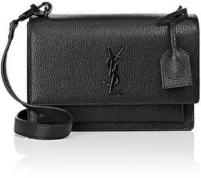 Saint Laurent Women's Monogram Sunset Medium Satchel - BLACK - STYLE