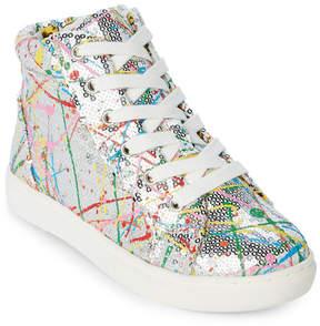 Steve Madden Kids Girls) Silver JSequel High Top Sneakers