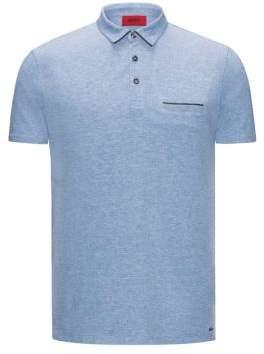 HUGO Boss Cotton Polo Shirt, Slim Fit Darrow XXL Open Blue