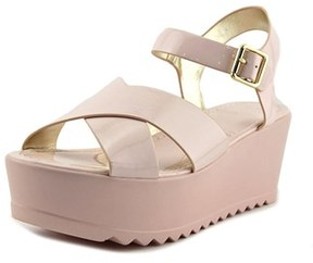 Material Girl Wave Women Open Toe Synthetic Wedge Sandal.