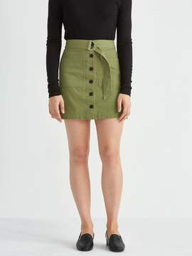 Frank and Oak Utility A-Line Skirt in Military Green
