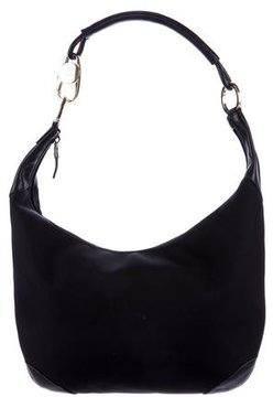 Gucci Leather-Trimmed Shoulder Bag - BLACK - STYLE