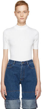 Courreges White Mock Neck Pullover
