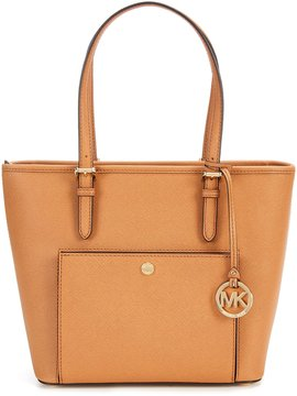 MICHAEL Michael Kors Jet Set Snap-Pocket Medium Tote - ACORN - STYLE
