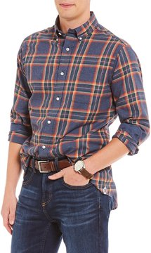 Daniel Cremieux Plaid Fine Twill Long-Sleeve Woven Shirt