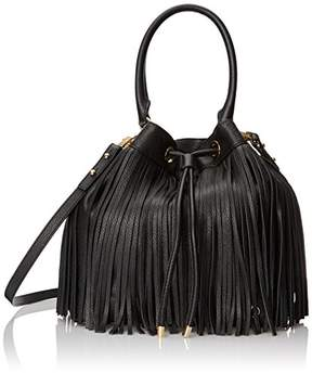Milly Essex Fringe Drawstring Top Handle Bag