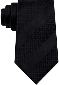 Sean John Men's Diagonal Stripe Unsolid Solid Silk Tie
