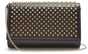 Christian Louboutin Paloma Embellished Leather Clutch - Womens - Black Gold