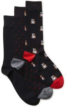 Clarks Mens 3-Pack Bulldog Socks