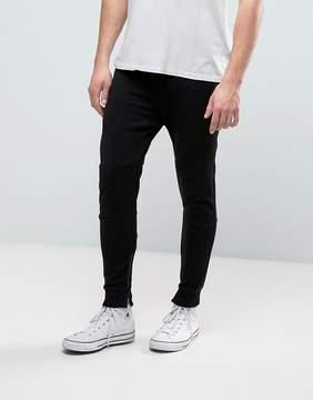 Pull&Bear Skinny Joggers In Black