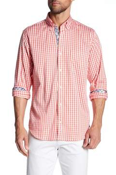 Tailorbyrd Long Sleeve Plaid Trim Fit Woven Shirt (Big & Tall Available)