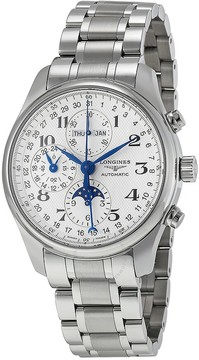 Longines Master Collection Silver Chronograph Dial Stainless Steel Men's Watch L27734786