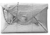 Michael Kors Exotic Metallic River Clutch - NICKEL - STYLE