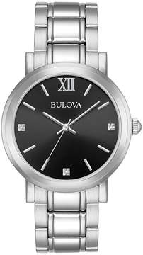 Bulova Men's Diamond-Accent Stainless Steel Bracelet Watch 40mm, A Macy's Exclusive Style