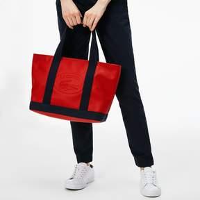 Lacoste Women's Classic Coated Pique Canvas Zip Tote Bag