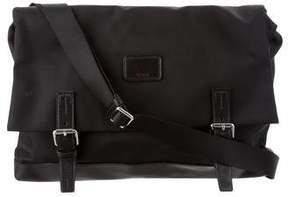 Tumi Leather-Trimmed Messenger Bag