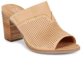 Toms Majorcamul Perforated Leather Mules