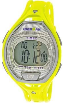 Timex Ironman Sleek TW5K96100 Yellow Resin Quartz Sport Watch