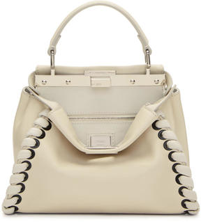 Fendi White Mini Peekaboo Bag