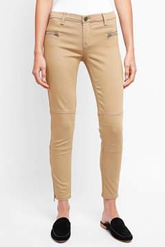 Blank Twill Skinny Ankle Zip Pants