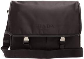 Prada Leather-trimmed nylon cross-body bag