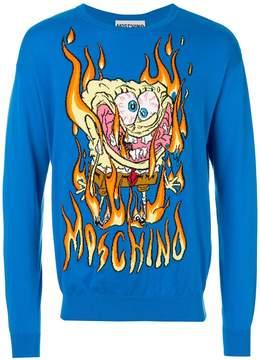 Moschino Spongebob flame sweater