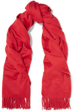 Max Mara - Camel Hair Scarf - Red