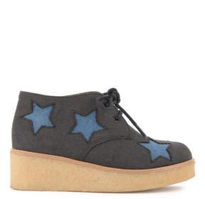 Stella McCartney Star-printed derbies with platform heels - Wendy