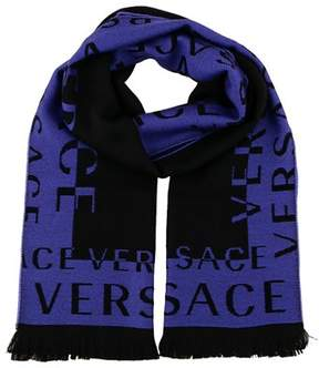 Versace It00630 Viola Purple 100% Wool Mens Scarf.