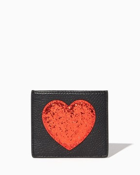 Charming charlie Glitter Heart Card Case