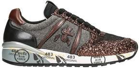 Premiata Diane In Bronze Glitter Sneakers