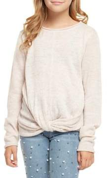 Dex Girl's Knotted Hem Pullover